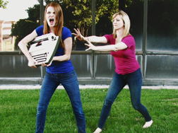 Cara Reid and Whitney Holotik mania/gift by Shelby-Allison Hibbs. Echo Theatre