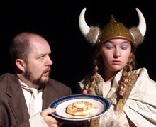 Erik Archilla and Chloe Clark-Soles - Food for Thought by Cliff McClelland - theMcClarey Players